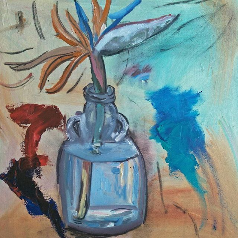 (CreativeWork) Bird of Paradise in Kraken Bottle by Jacob Butler. mixed-media. Shop online at Bluethumb.