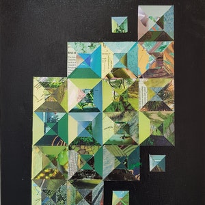 (CreativeWork) Green jewel  by Keren Rubinstein. mixed-media. Shop online at Bluethumb.