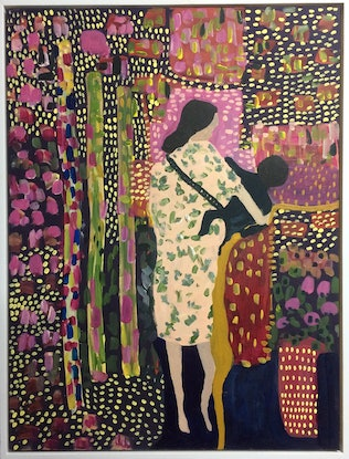 (CreativeWork) Mother and child by Sharon Monagle. Acrylic Paint. Shop online at Bluethumb.