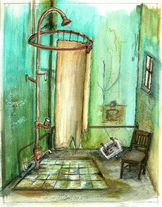 (CreativeWork) Abandoned Shower I Ed. 10 of 50 by Chelle Destefano. #<Filter:0x000055ff5ad9d550>. Shop online at Bluethumb.