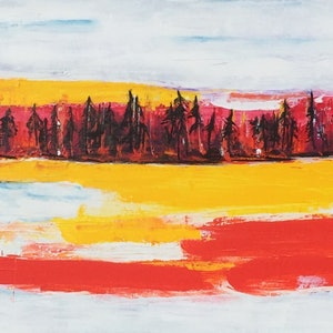 (CreativeWork) Long Hot Summer by Joie Swepson. arcylic-painting. Shop online at Bluethumb.