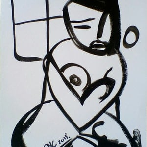 (CreativeWork) Unwanted Wife by Sarah Crane. arcylic-painting. Shop online at Bluethumb.