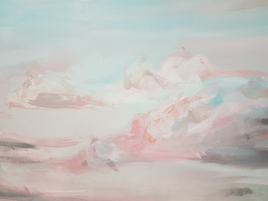 (CreativeWork) Gathering Clouds by Emily Snow. Acrylic Paint. Shop online at Bluethumb.