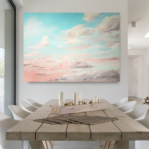 (CreativeWork) Gathering Clouds by Emily Snow. arcylic-painting. Shop online at Bluethumb.