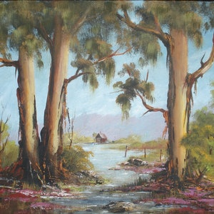 (CreativeWork) Mornington by Jennifer Beresford. arcylic-painting. Shop online at Bluethumb.
