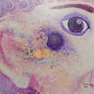(CreativeWork) Labyrinth Is Listening by David Ayre. arcylic-painting. Shop online at Bluethumb.