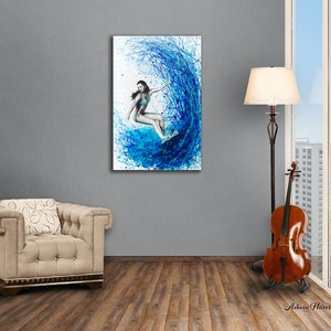 (CreativeWork) Thoughts and Waves by Ashvin Harrison. acrylic-painting. Shop online at Bluethumb.