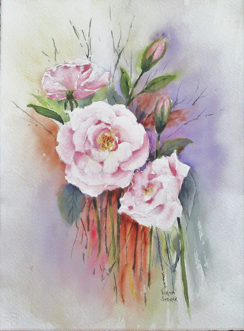 (CreativeWork) Rose Everlasting  Love by VERNA STORER. watercolour. Shop online at Bluethumb.