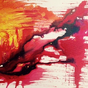 (CreativeWork) Lavaland by Ruby Jackson. arcylic-painting. Shop online at Bluethumb.