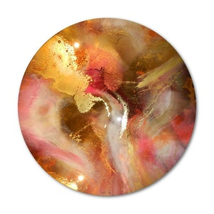 (CreativeWork) STRAWBERRY RIPPLE - ORIGINAL RESIN ARTWORK    by Deborah O'Loughlin. resin. Shop online at Bluethumb.