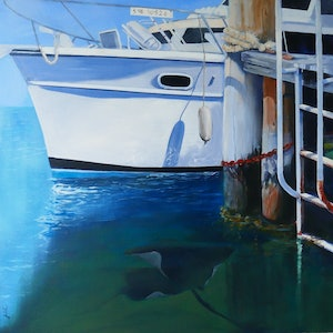 (CreativeWork) What Lies Beneath by Jill Rogers. arcylic-painting. Shop online at Bluethumb.