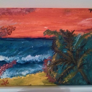 (CreativeWork) Ocean Dreams by Tessara Brown. oil-painting. Shop online at Bluethumb.