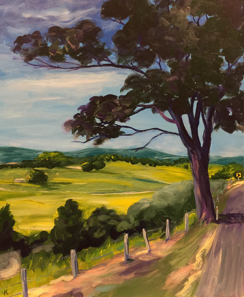 (CreativeWork) The Road to Murwillumbah by John Klein. arcylic-painting. Shop online at Bluethumb.