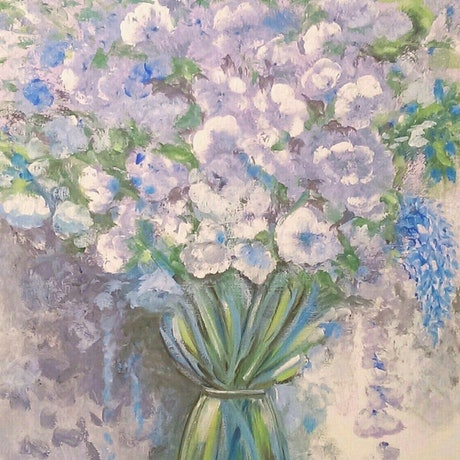 (CreativeWork) My Serene Lisianthiums - Print Ed. 1 of 50 by Suzanne West. Print. Shop online at Bluethumb.