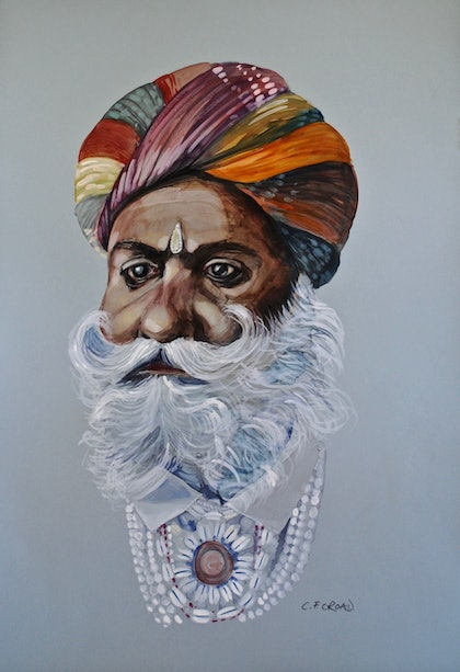 (CreativeWork) An Important Man by Carol Croad. watercolour. Shop online at Bluethumb.
