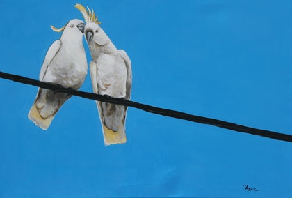 (CreativeWork) HV Chatter by Cory Acorn. arcylic-painting. Shop online at Bluethumb.