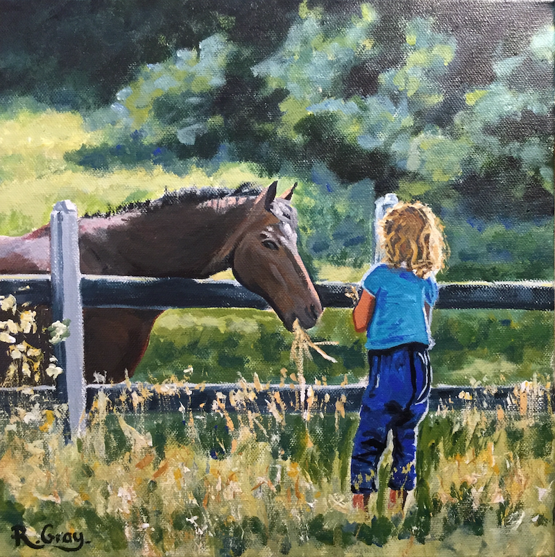 (CreativeWork) Pony Love by Robyn Gray. arcylic-painting. Shop online at Bluethumb.