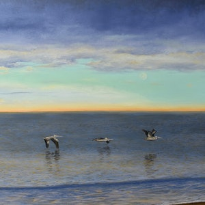 (CreativeWork) Roost on Dusk by Jo Burt. oil-painting. Shop online at Bluethumb.