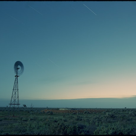 (CreativeWork) Windmill and Stars Ed. 1 of 9 by Damian Seagar. Photograph. Shop online at Bluethumb.