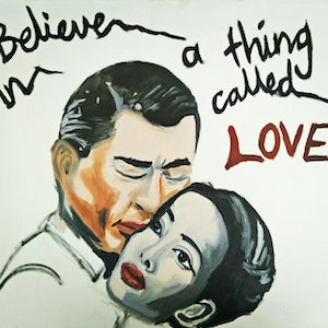 (CreativeWork) I believe in a thing called love  by Jacob Butler. oil-painting. Shop online at Bluethumb.