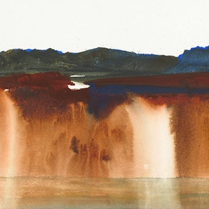 (CreativeWork) Wattamolla by Scott Swinson. watercolour. Shop online at Bluethumb.