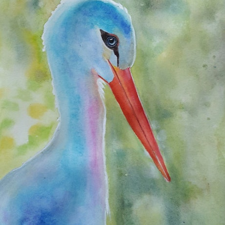 (CreativeWork) Who is the next for the baby! by Svetlana Cook. Watercolour Paint. Shop online at Bluethumb.