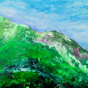 (CreativeWork) Strzlecki Ranges 4 by Judith Devey. arcylic-painting. Shop online at Bluethumb.