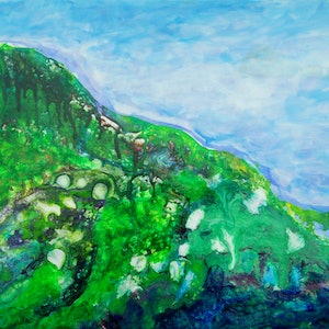 (CreativeWork) Strzlecki Ranges 2 by Judith Devey. arcylic-painting. Shop online at Bluethumb.