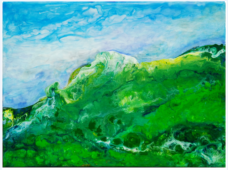 (CreativeWork) Strzlecki Ranges 5 by Judith Devey. arcylic-painting. Shop online at Bluethumb.