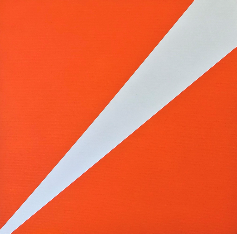 (CreativeWork) Untitled (Orange and White) by Joshua Reilly. arcylic-painting. Shop online at Bluethumb.
