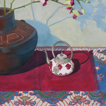 (CreativeWork) MINIATURE TEAPOT STILL-LIFE by JAN LAWNIKANIS. Other Media. Shop online at Bluethumb.