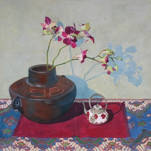 (CreativeWork) MINIATURE TEAPOT STILL-LIFE by JAN LAWNIKANIS. other-media. Shop online at Bluethumb.