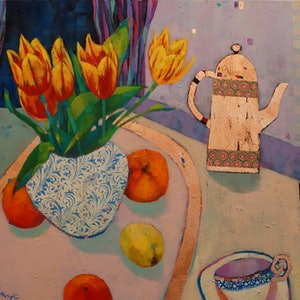 (CreativeWork) THE COPPER POT by Sandra Michele Knight. mixed-media. Shop online at Bluethumb.