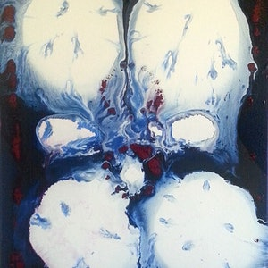 (CreativeWork) Embryo by Garry Arnephy. acrylic-painting. Shop online at Bluethumb.