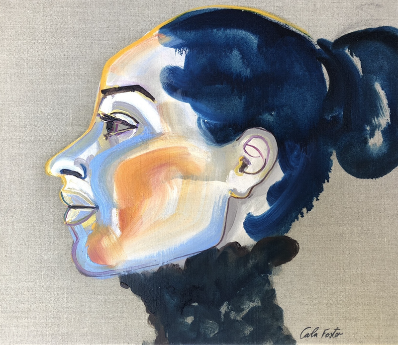 (CreativeWork) Blue profile by Carla Foster. oil-painting. Shop online at Bluethumb.
