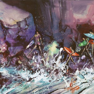 (CreativeWork) Invasion- Original Artwork by Donald James Waters OAM. arcylic-painting. Shop online at Bluethumb.