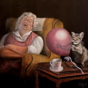 (CreativeWork) JM3154 Looming Chaos by Joseph Maul. oil-painting. Shop online at Bluethumb.