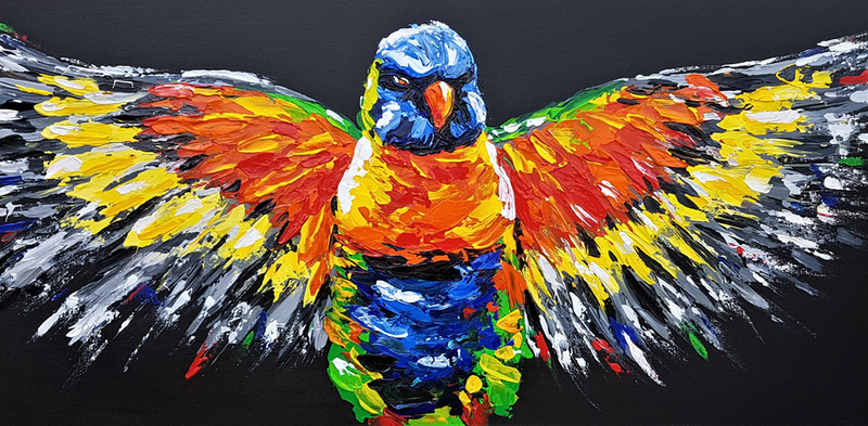 (CreativeWork) The Big Shake Off by Lisa Fahey. arcylic-painting. Shop online at Bluethumb.