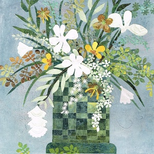 (CreativeWork) Florage 1 by Jennifer O'Young. mixed-media. Shop online at Bluethumb.