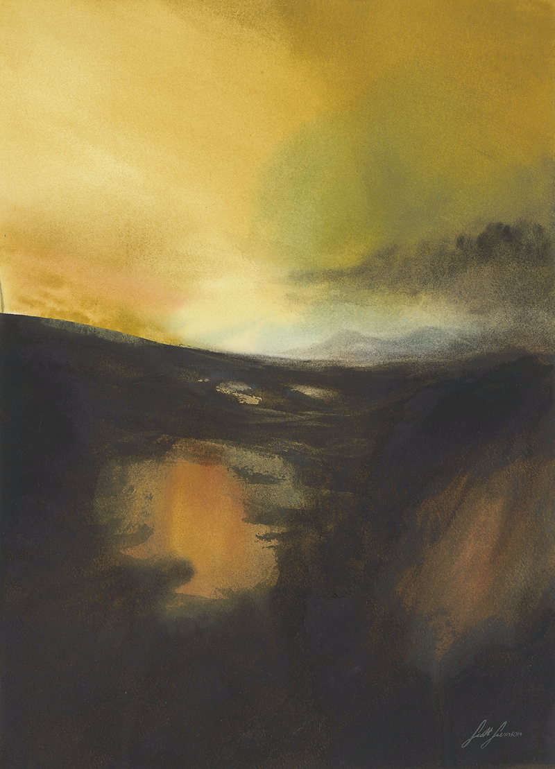 (CreativeWork) Gloaming Light by Scott Swinson. Watercolour Paint. Shop online at Bluethumb.