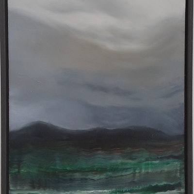 (CreativeWork) Lakeside - Great Lakes II by Erin Amor. Oil Paint. Shop online at Bluethumb.