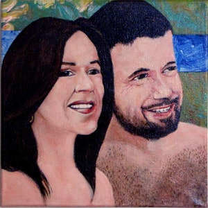 (CreativeWork) Mary and Frederick by Raymond Wittenberg. arcylic-painting. Shop online at Bluethumb.