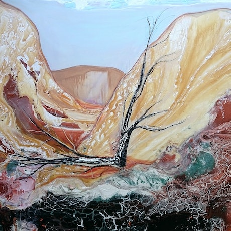 (CreativeWork) Valley of the Winds by William Holt. Acrylic Paint. Shop online at Bluethumb.