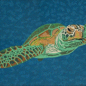(CreativeWork) Northwest Turtle Limited Edition Print Ed. 8 of 50 by Karl Holland. print. Shop online at Bluethumb.