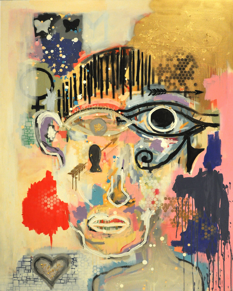 (CreativeWork) HER by Cameron Holmes. mixed-media. Shop online at Bluethumb.