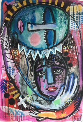 (CreativeWork) Mother's Love by Julia Trembicki. Mixed Media. Shop online at Bluethumb.