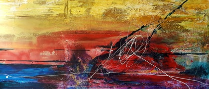 (CreativeWork) Music by Jane McCumstie. mixed-media. Shop online at Bluethumb.