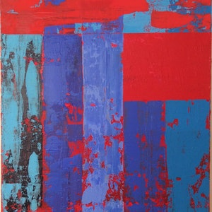 (CreativeWork) Splash of Red by Greig Whitelaw. arcylic-painting. Shop online at Bluethumb.