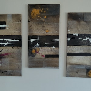 (CreativeWork) Australia Heart 3 piece no. 1  by Aaron D Bryant. arcylic-painting. Shop online at Bluethumb.