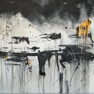 (CreativeWork) Black and White Australia no. 2 by Aaron D Bryant. arcylic-painting. Shop online at Bluethumb.